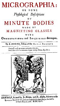 """Robert Hooke """"Micrographia"""""""